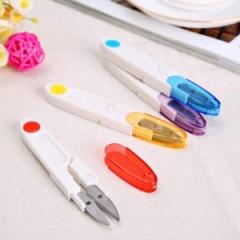 彩色透明(带盖)剪刀 弹簧纱剪  (200个/盒 1200个/箱)个 混色 长11.4cm