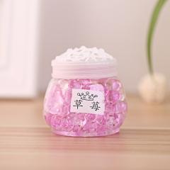 香炉形水晶香珠 空气圆瓶清新剂 128个/箱 草莓 7.5*7.5cm(直径*高)