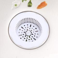 厨房花型水槽地漏  210/箱 白色 10.6*3cm,内径6.7cm
