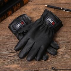 sport鹿皮(暴龙))大棉手套保暖皮手套 黑色 均码 黑色 均码