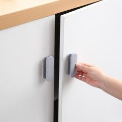 2个装门窗橱柜门拉手衣柜冰箱门把手 灰色 3*2*9cm