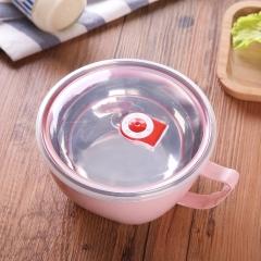 北欧色系加厚泡面碗-120/箱 北欧粉 18*8*8cm