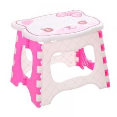 小猫折儿童塑料手提凳-粉色 60/箱 粉色 24*19*20cm