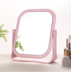 欧式简约麦秆双面化妆镜-方形 48/箱 方形粉色 20*14*1.1cm