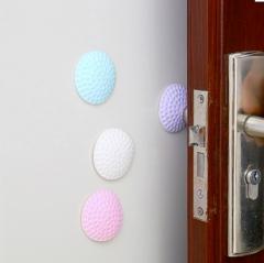 清新马卡龙色高尔夫球造型墙面门把手防撞垫(白色)500/袋 白色 见详情