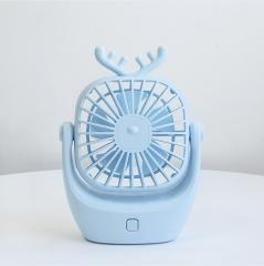新款usb萌宠小鹿迷你静音充电学生风扇 80/件  12*4.8*15.5cm 蓝色 12*4.8*