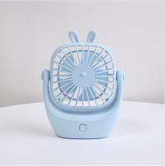 新款usb萌宠小兔迷你静音充电学生风扇 12*4.8*15.5cm 蓝色 12*4.8*15.5cm