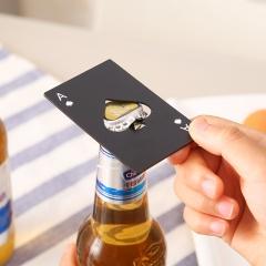 创意不锈钢黑桃A信用卡开瓶器 黑色500/箱 白色 8.5*5.4cm