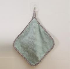 可挂式珊瑚绒抹布  1000/箱 绿色 26*26CM