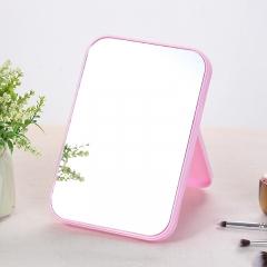 糖果色可折叠台式化妆镜 (120个/箱) 粉色 20*14*1.1cm