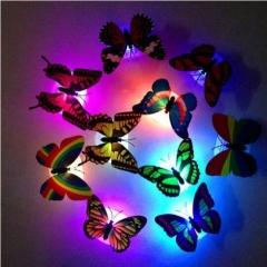 装饰发光蝴蝶可粘贴 7168小夜灯 960个/箱 混色 3.7CM