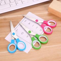 韩国文具学生剪刀办公双环剪刀 1500个/箱 混色 13*6cm