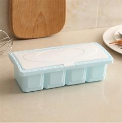 四格调味盒--绿色 140个/箱  9.5*21.5 蓝色 9.5*21.5