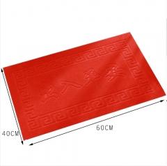拉绒压花PVC防滑吸水地毯门垫40*60 随机 40*60