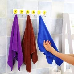 加厚纯色超细纤维多用途毛巾擦手巾 混色 30*70CM