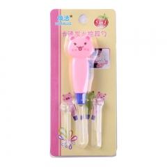 卡通动物发光大小耳勺-1000/件 粉色兔子 10.8cm