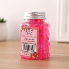 方瓶清新剂 芳香水晶香薰珠 230/箱 草莓 4.5*4.5*8cm