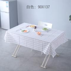 PVC防水防油桌垫桌布茶几垫 白色 90*137