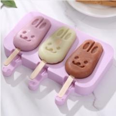 硅胶雪糕模具送50根雪糕棒 100/箱 兔子 见详情