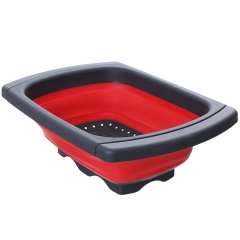 水槽伸缩沥水篮 48/箱 红色 见详情