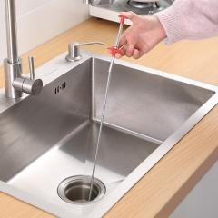 带抓手管道疏通器下水管清洁抓取器300/箱 银灰 全长60cm