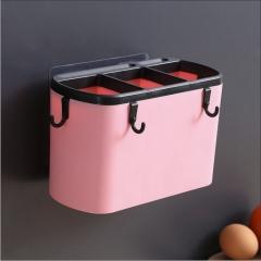 多功能无痕粘贴式沥水筷子笼60/箱 粉色 筷子笼