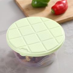 透明收纳盒 保鲜盒圆形绿色 绿色 大号