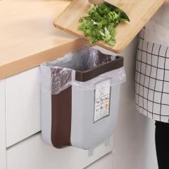 家用折叠垃圾桶厨房塑料分类垃圾桶36/箱 咖啡色 大号