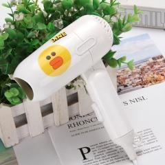 迷你折叠卡通吹风机小功率 100/箱 白色小鸭 详情