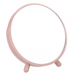 圆形梳妆镜 带收纳化妆镜- 48箱 北欧粉 17*17cm