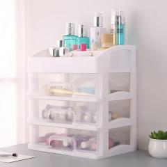 三层抽屉收纳盒  白架马卡龙化妆盒 单个包装 白色 27*20*31cm