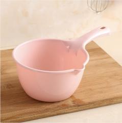 长柄加厚塑料水勺  27.5*17*8.5cm 北欧粉 27.5*17*8.5cm