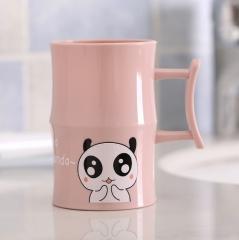 卡通动物竹节洗漱杯-- 240个/箱 7.5*11.5cm 粉色 7.5*11.5cm