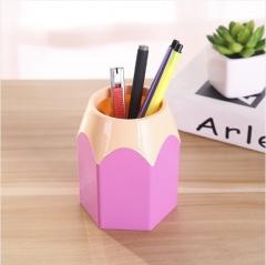 创意大容量学生大铅笔头笔筒撞色笔筒 240个/箱 8.5*6.5*10.5cm 粉色 8.5*6.5
