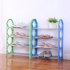 家用组合四层简易鞋架-学生宿舍收纳鞋架--混色 60/箱 混色 42*19*58cm(组装)