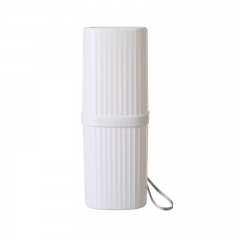 方形便携式洗漱杯 牙刷盒带挂绳-180/箱 白色 21*7cm