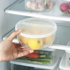 1.3L厨房冰箱收纳盒储物盒96/箱 透明圆形