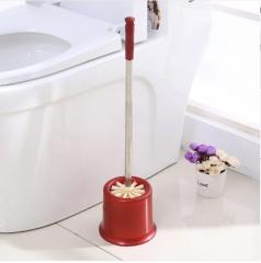 卫生间不锈钢长柄去污马桶刷洁厕刷清洁套装 60个/箱 酒红 53*14cm 手柄长40cm