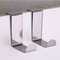 无痕不锈钢拉丝挂钩--两个装1000/箱 不锈钢色 2个装