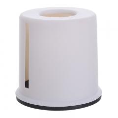 欧式圆形塑料纸巾盒 115/箱 灰色 见详情