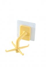 旋转挂钩厨房收纳挂架浴室小物件挂钩  200/箱 黄色 见详情