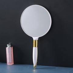 麦秆手柄化妆镜圆镜  (144个/箱)个 白色 见详情