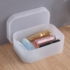 透明磨砂桌面化妆收纳盒 小号空格  100个/箱 见详情