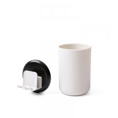 吸壁式卫生间情侣洗漱套装    (120个/箱)个 黑+白 见详情