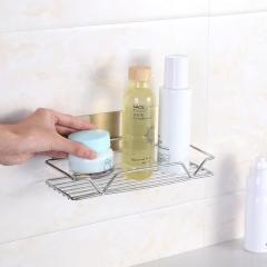 浴室不锈钢可粘贴置物收纳架(精品置物架) 40/箱 银色 24*9.5*11cm(组装完成)